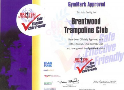 GymMark certificate